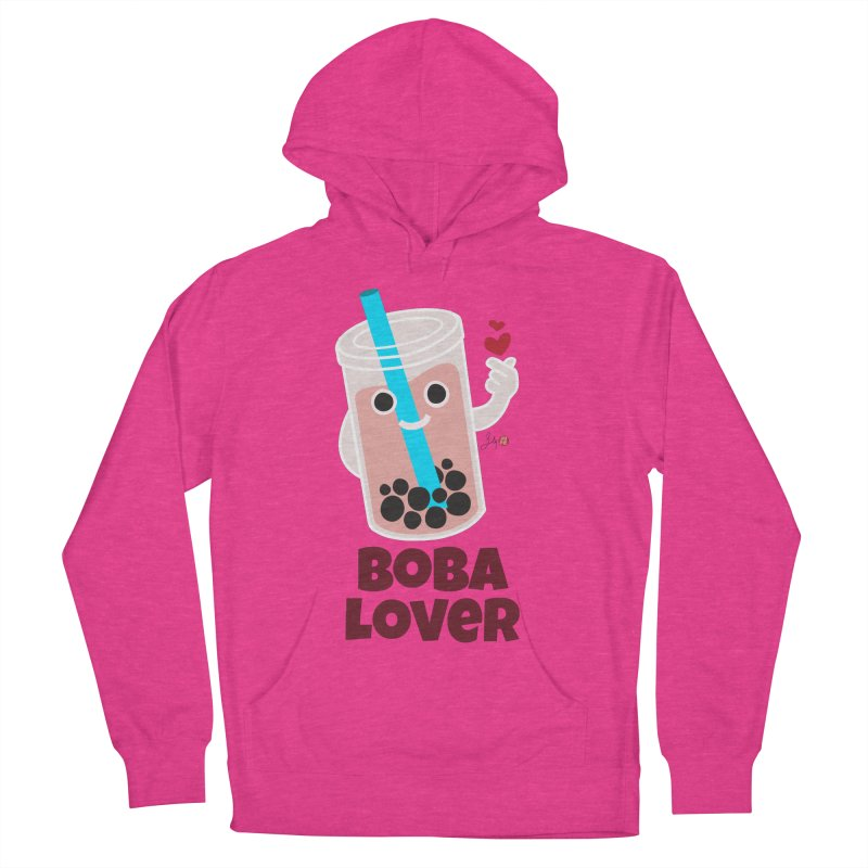 Boba Lover Men's French Terry Pullover Hoody by Designs by Billy Wan