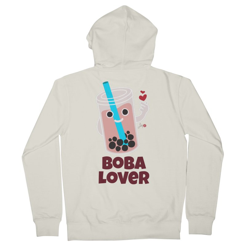 Boba Lover Women's French Terry Zip-Up Hoody by Designs by Billy Wan