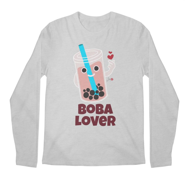Boba Lover Men's Regular Longsleeve T-Shirt by Designs by Billy Wan