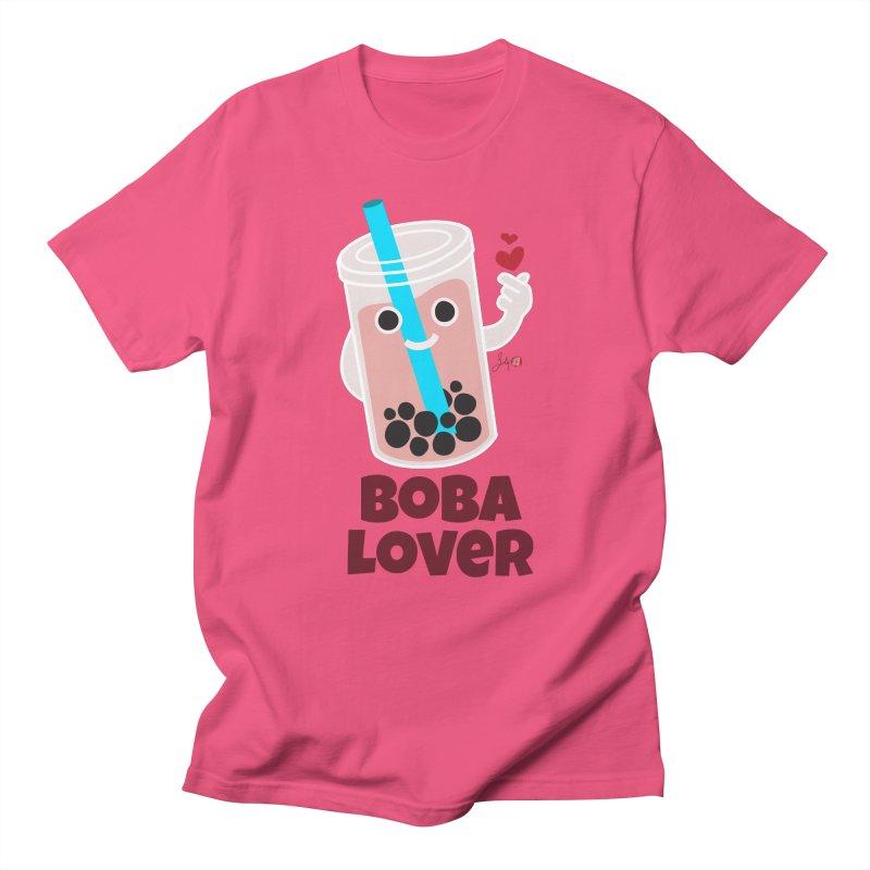 Boba Lover Women's Regular Unisex T-Shirt by Designs by Billy Wan