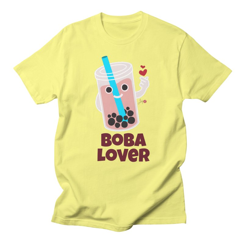 Boba Lover Men's T-Shirt by Designs by Billy Wan