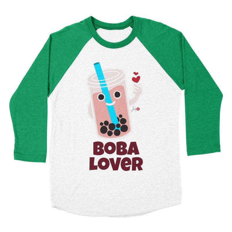 Boba Lover Women's Baseball Triblend Longsleeve T-Shirt by Designs by Billy Wan