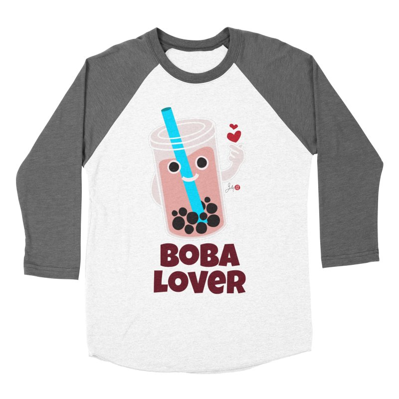 Boba Lover Men's Baseball Triblend Longsleeve T-Shirt by Designs by Billy Wan