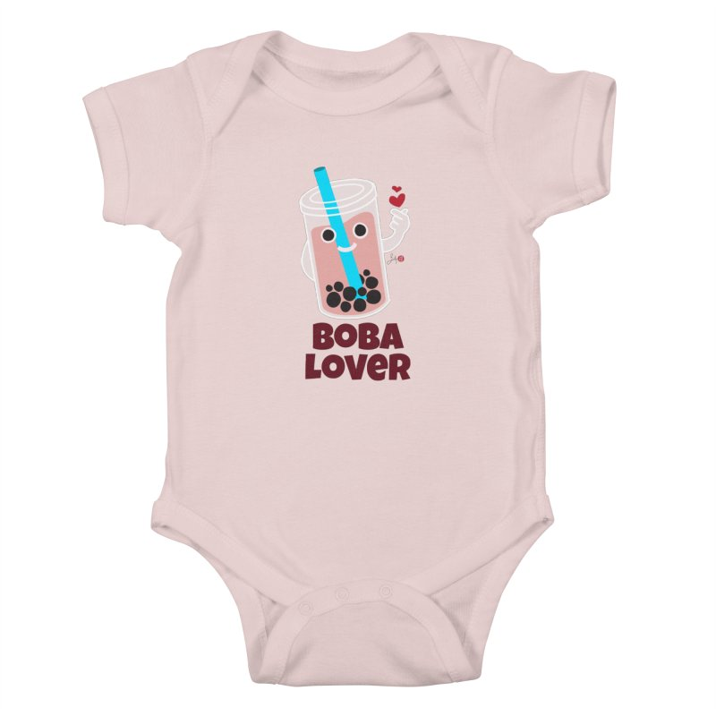 Boba Lover Kids Baby Bodysuit by Designs by Billy Wan
