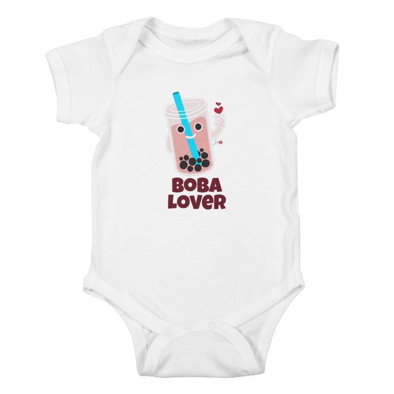 Boba Lover Kids Baby Bodysuit by Designs by Billy Wan