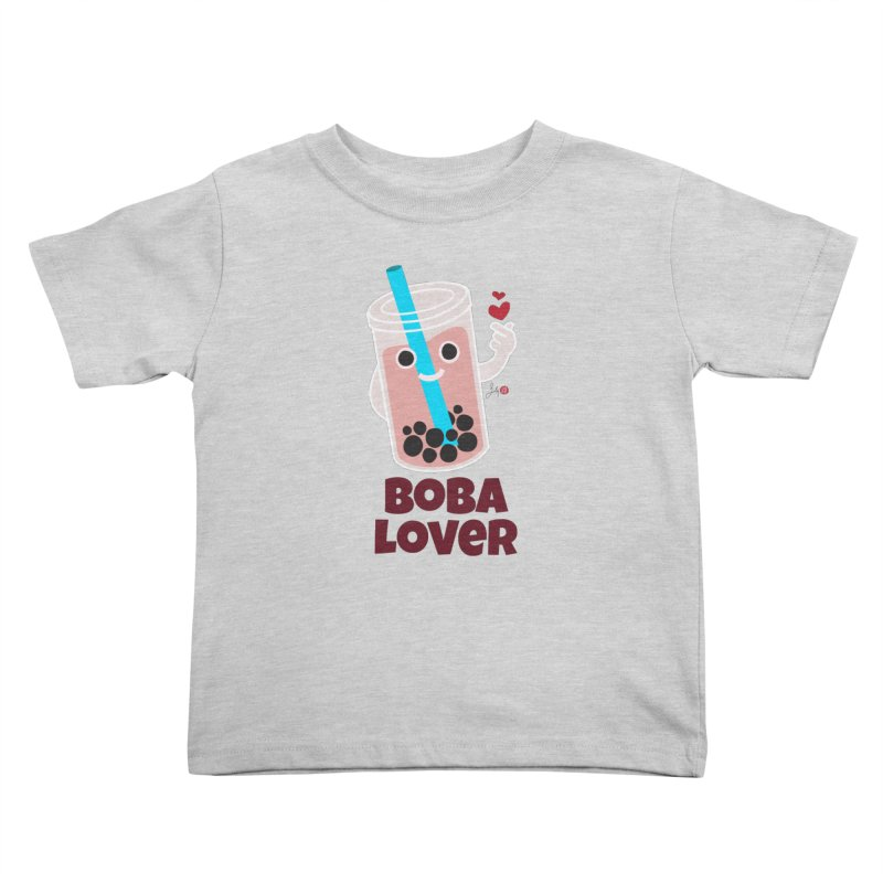 Boba Lover Kids Toddler T-Shirt by Designs by Billy Wan