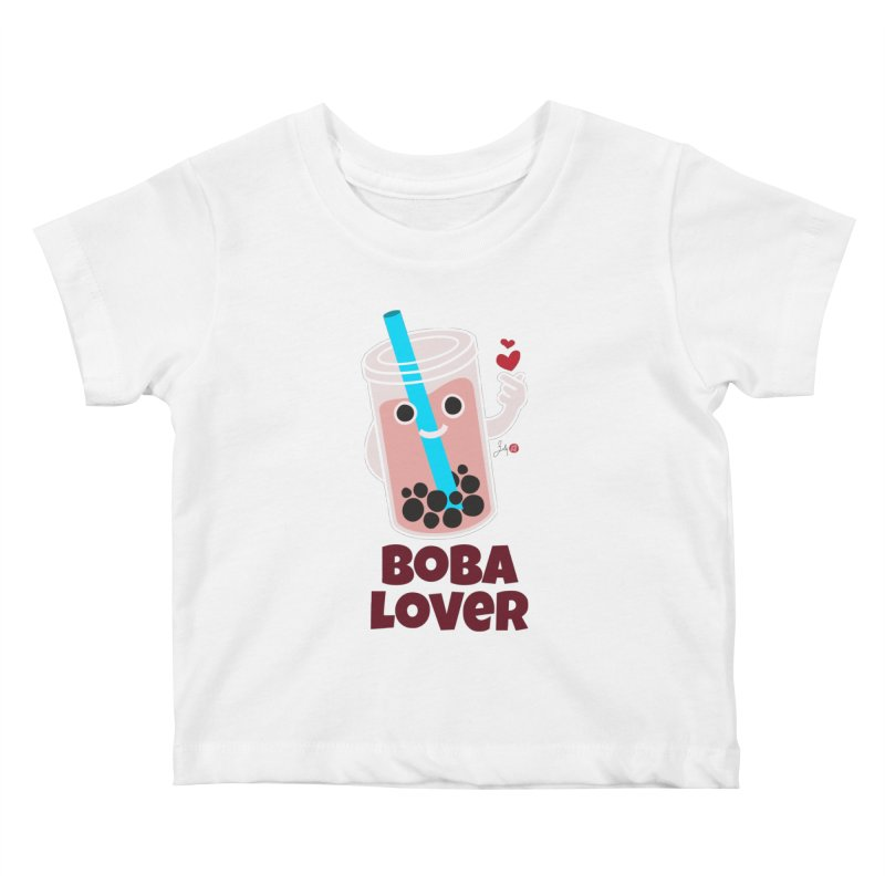 Boba Lover Kids Baby T-Shirt by Designs by Billy Wan