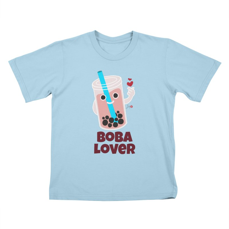Boba Lover Kids T-Shirt by Designs by Billy Wan