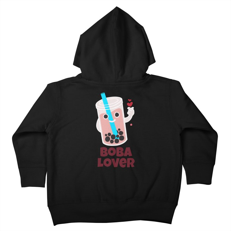 Boba Lover Kids Toddler Zip-Up Hoody by Designs by Billy Wan
