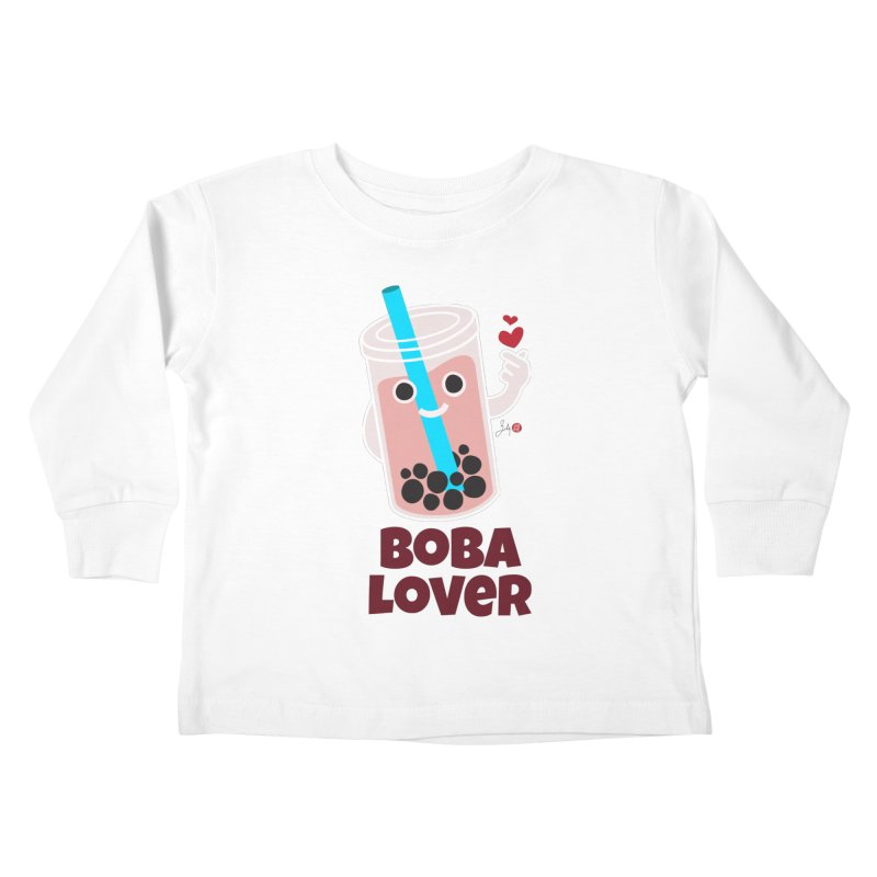 Boba Lover Kids Toddler Longsleeve T-Shirt by Designs by Billy Wan