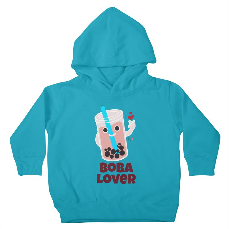 Boba Lover Kids Toddler Pullover Hoody by Designs by Billy Wan