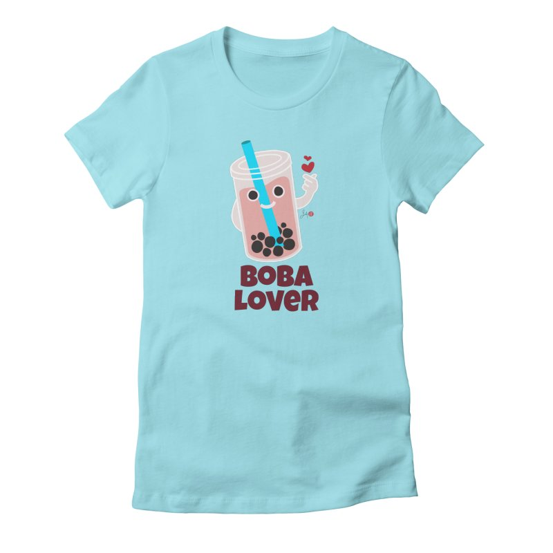 Boba Lover in Women's Fitted T-Shirt Cancun by Designs by Billy Wan