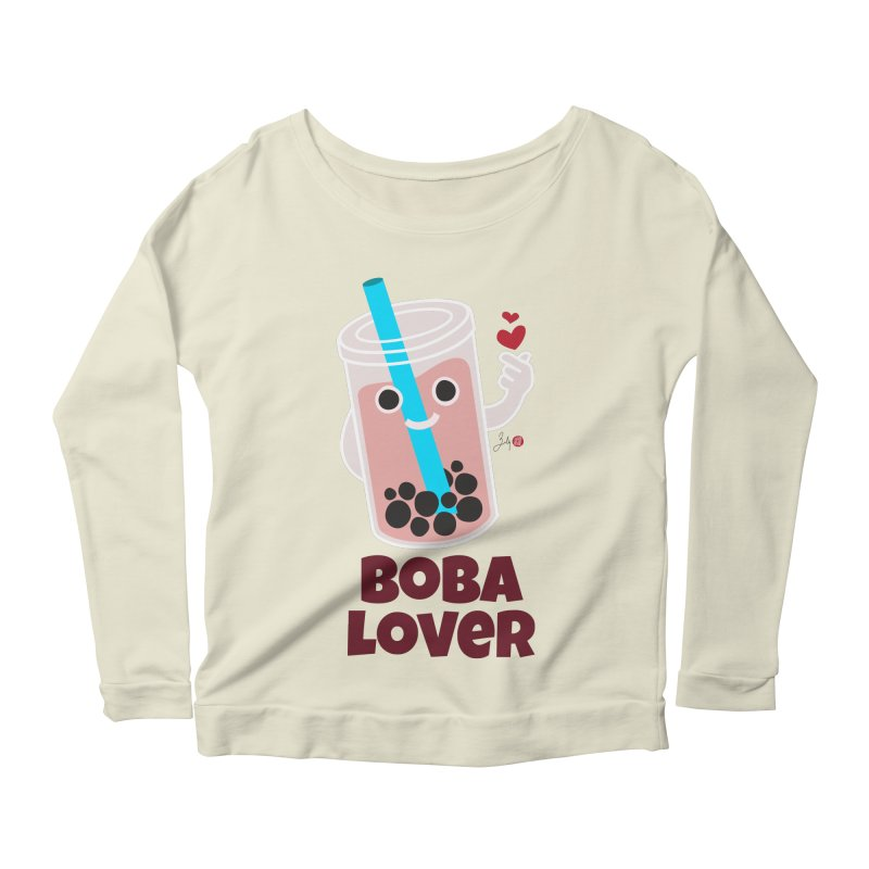 Boba Lover Women's Scoop Neck Longsleeve T-Shirt by Designs by Billy Wan