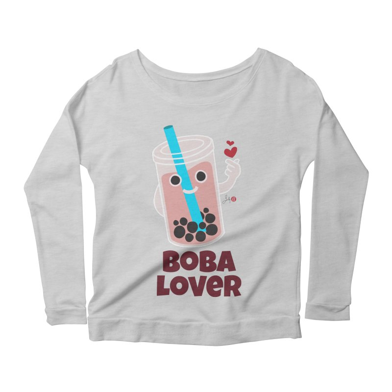 Boba Lover Women's Scoop Neck Longsleeve T-Shirt by Designs by Billy Wan
