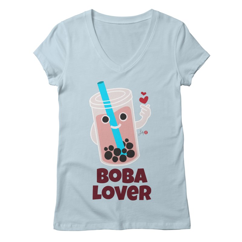 Boba Lover Women's V-Neck by Designs by Billy Wan