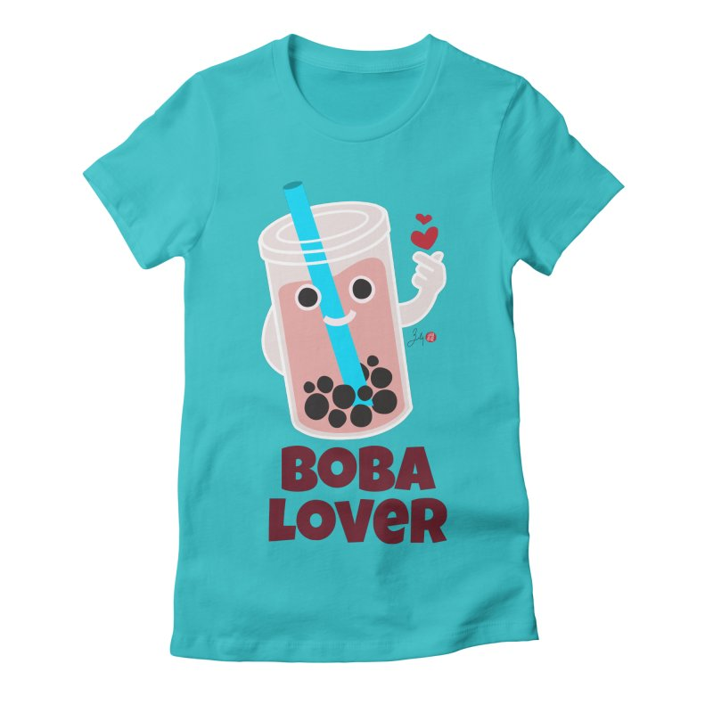 Boba Lover Women's Fitted T-Shirt by Designs by Billy Wan