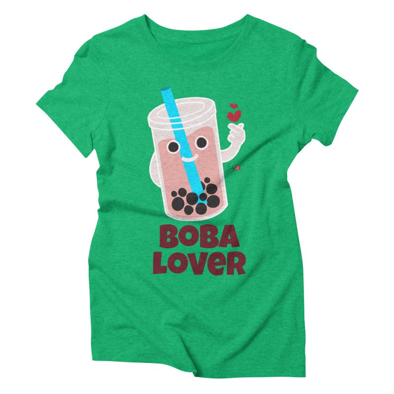 Boba Lover Women's Triblend T-Shirt by Designs by Billy Wan