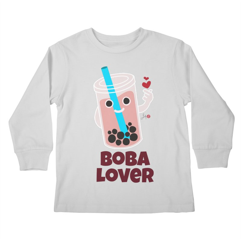 Boba Lover Kids Longsleeve T-Shirt by Designs by Billy Wan
