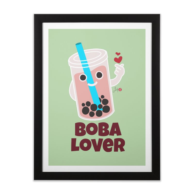 Boba Lover Home Framed Fine Art Print by Designs by Billy Wan