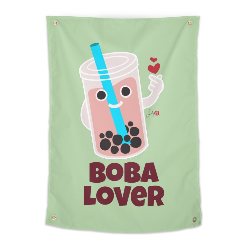 Boba Lover Home Tapestry by Designs by Billy Wan