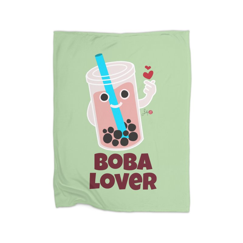 Boba Lover Home Fleece Blanket Blanket by Designs by Billy Wan