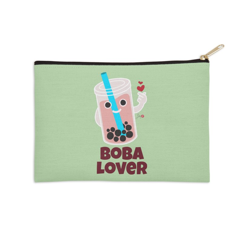 Boba Lover Accessories Zip Pouch by Designs by Billy Wan