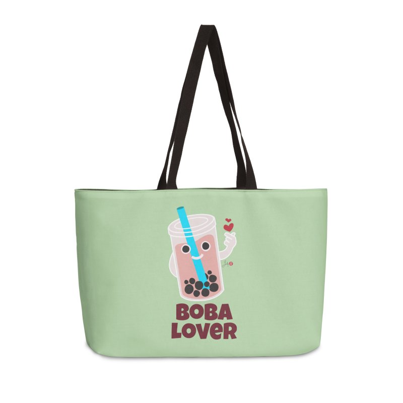 Boba Lover Accessories Weekender Bag Bag by Designs by Billy Wan