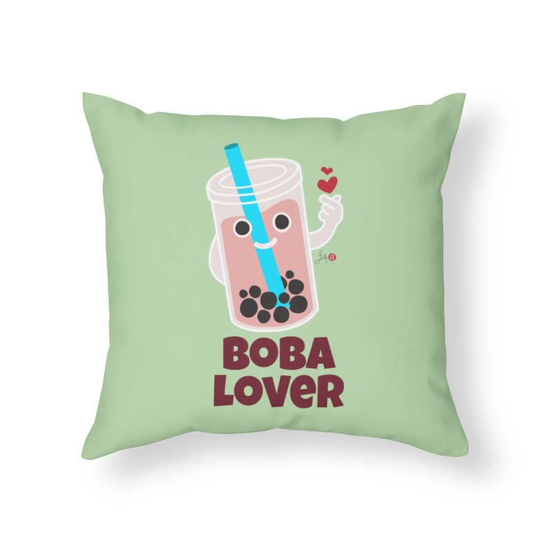 Boba Lover Home Throw Pillow by Designs by Billy Wan