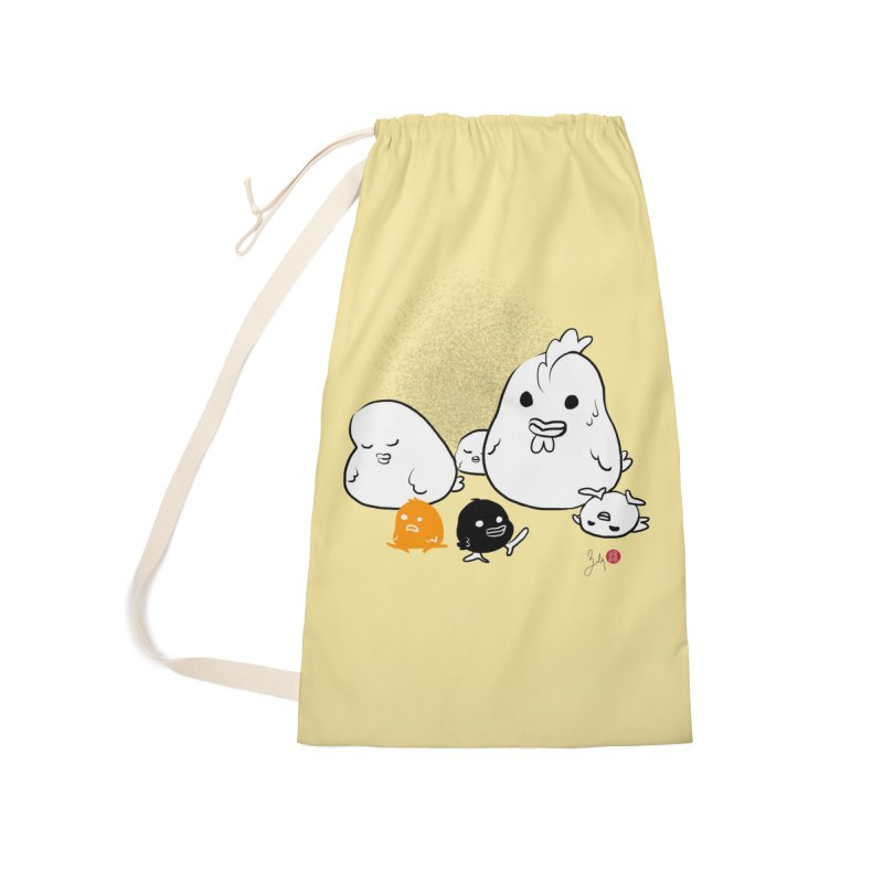 The Chicken Family Accessories Laundry Bag Bag by Designs by Billy Wan