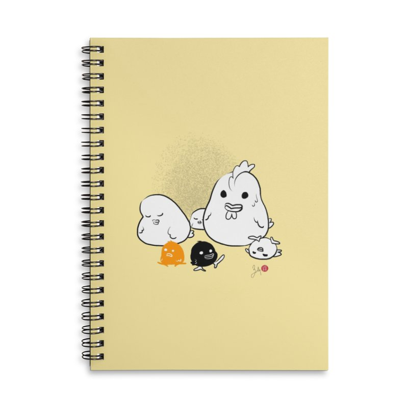 The Chicken Family Accessories Lined Spiral Notebook by Designs by Billy Wan