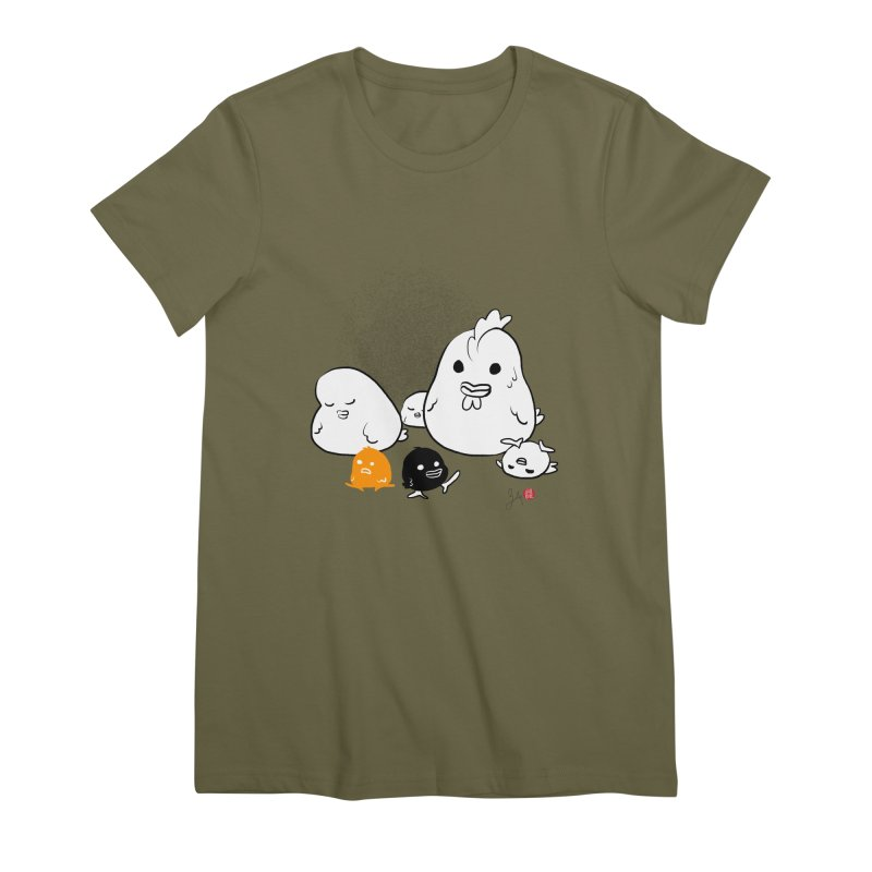 The Chicken Family Women's Premium T-Shirt by Designs by Billy Wan