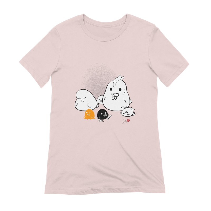 The Chicken Family Women's Extra Soft T-Shirt by Designs by Billy Wan