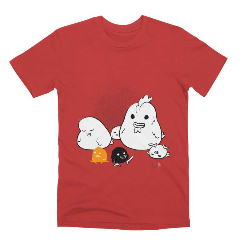The Chicken Family Men's Premium T-Shirt by Designs by Billy Wan