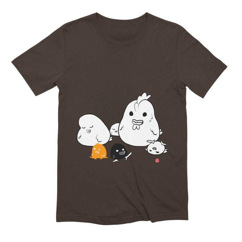 The Chicken Family Men's Extra Soft T-Shirt by Designs by Billy Wan