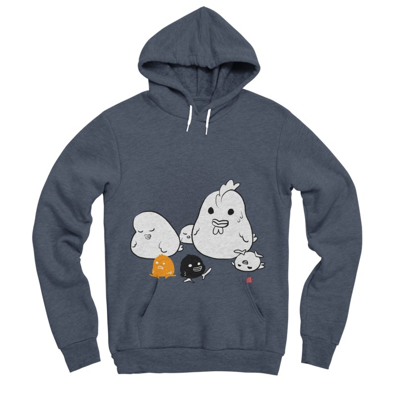 The Chicken Family Women's Sponge Fleece Pullover Hoody by Designs by Billy Wan