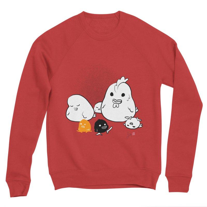 The Chicken Family Men's Sponge Fleece Sweatshirt by Designs by Billy Wan