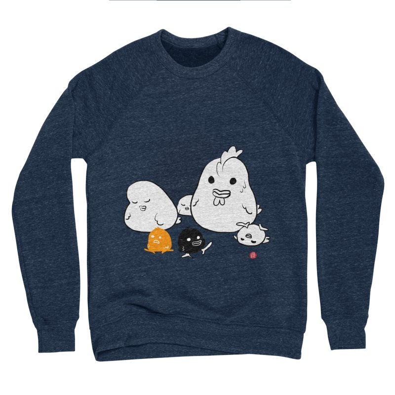 The Chicken Family Women's Sponge Fleece Sweatshirt by Designs by Billy Wan