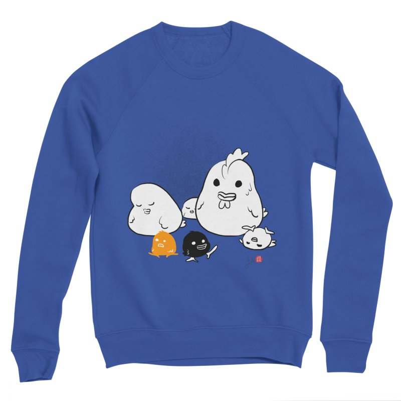 The Chicken Family Men's Sweatshirt by Designs by Billy Wan