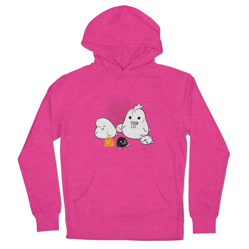 The Chicken Family Women's French Terry Pullover Hoody by Designs by Billy Wan