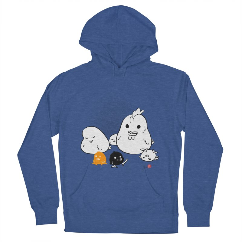 The Chicken Family Men's French Terry Pullover Hoody by Designs by Billy Wan