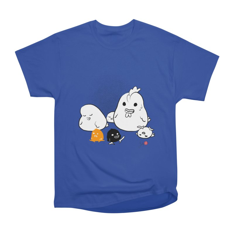 The Chicken Family Women's Heavyweight Unisex T-Shirt by Designs by Billy Wan