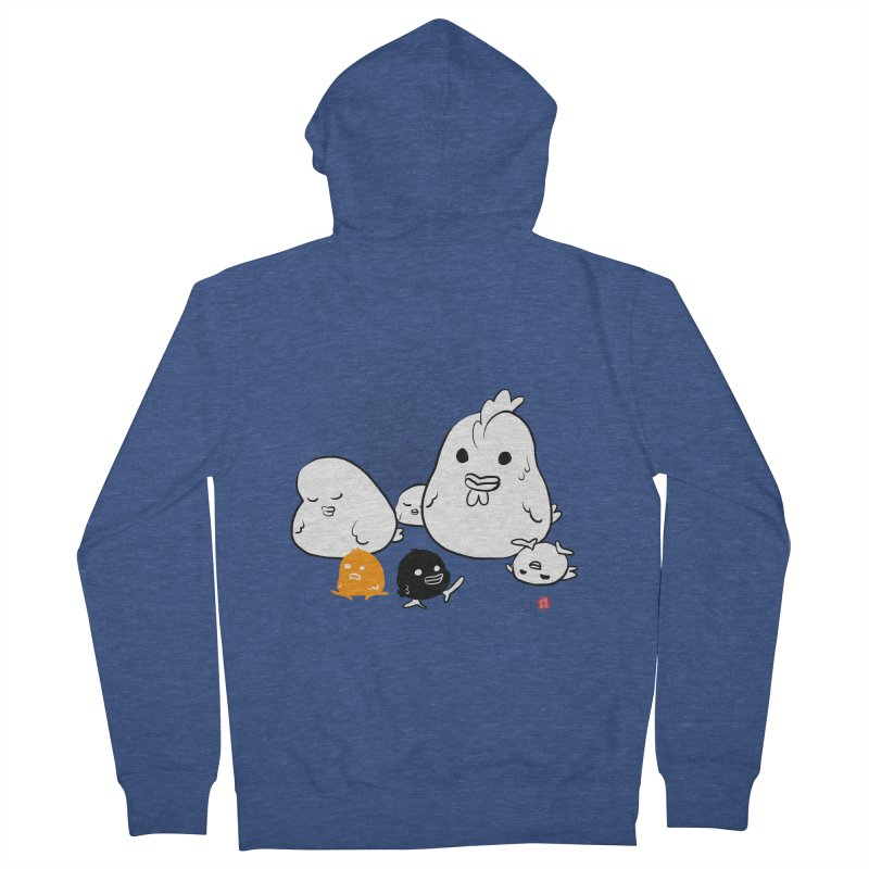 The Chicken Family Women's French Terry Zip-Up Hoody by Designs by Billy Wan