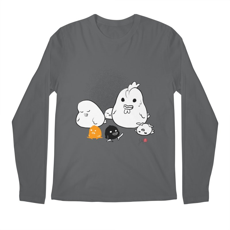 The Chicken Family Men's Longsleeve T-Shirt by Designs by Billy Wan