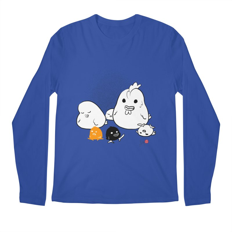 The Chicken Family Men's Regular Longsleeve T-Shirt by Designs by Billy Wan