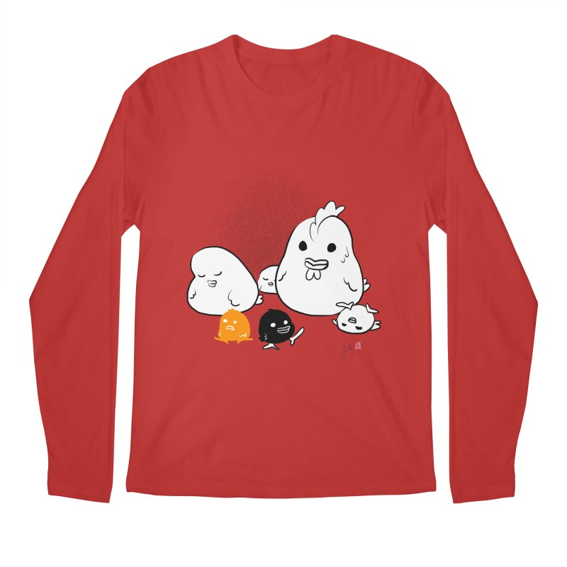 The Chicken Family Men's Regular Longsleeve T-Shirt by Designs by Billy Wan