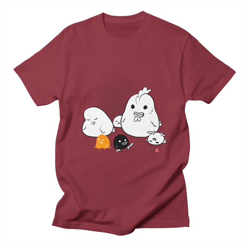 The Chicken Family Women's Regular Unisex T-Shirt by Designs by Billy Wan