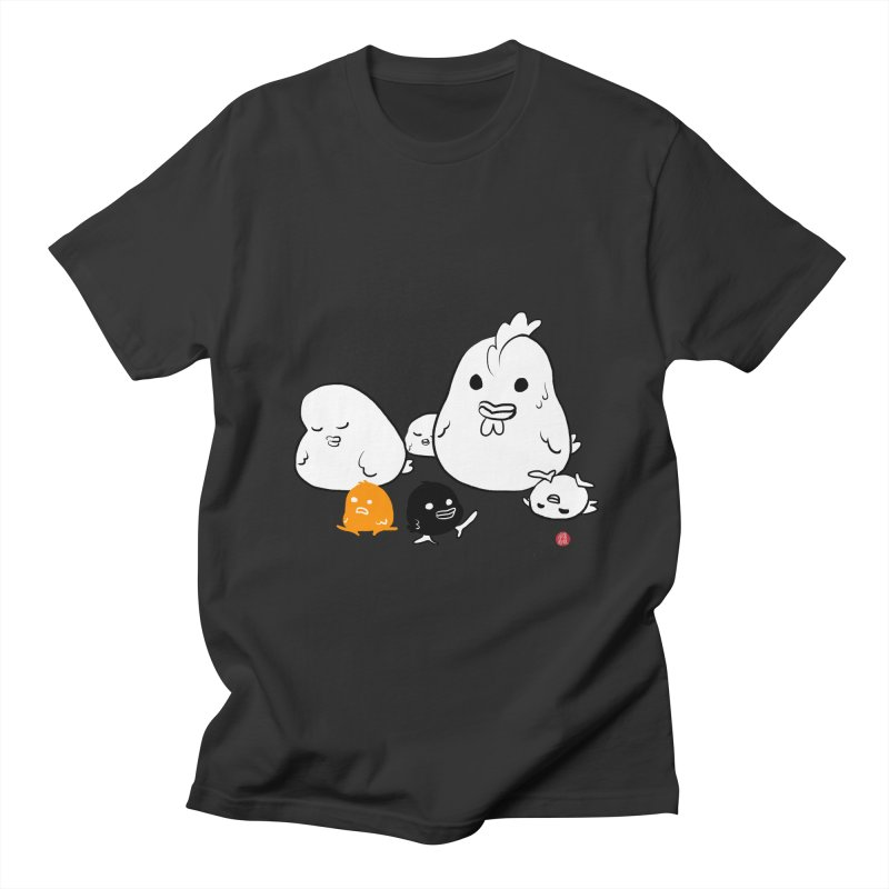 The Chicken Family Men's Regular T-Shirt by Designs by Billy Wan