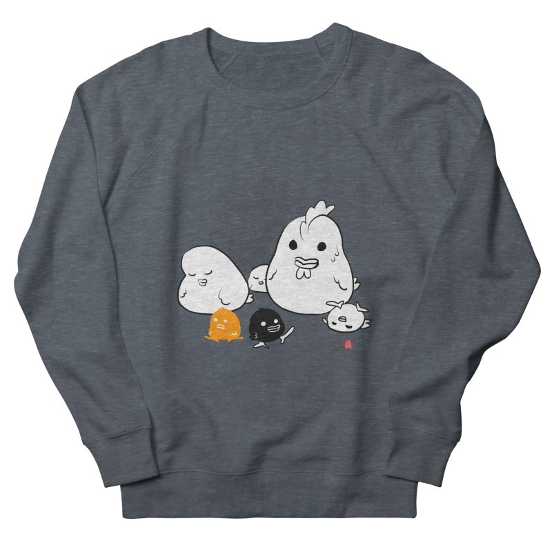 The Chicken Family Women's French Terry Sweatshirt by Designs by Billy Wan