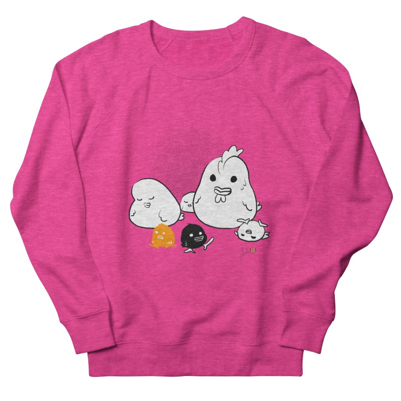 The Chicken Family Men's French Terry Sweatshirt by Designs by Billy Wan
