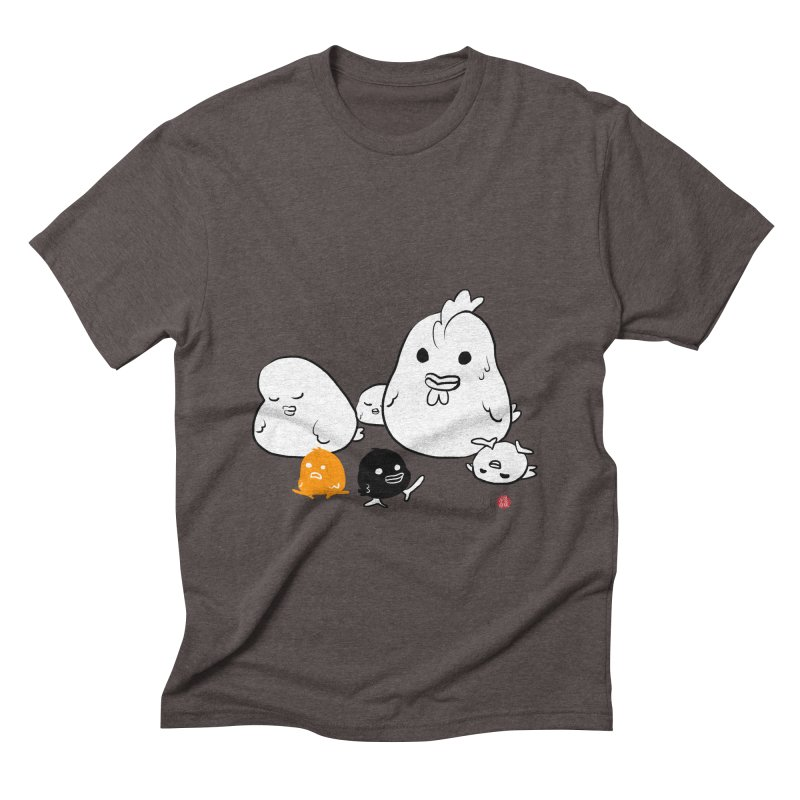 The Chicken Family Men's Triblend T-Shirt by Designs by Billy Wan